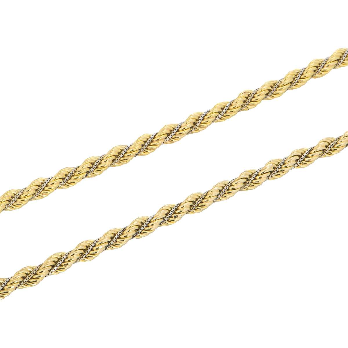 18k Two Colour Gold Necklace and Bracelet